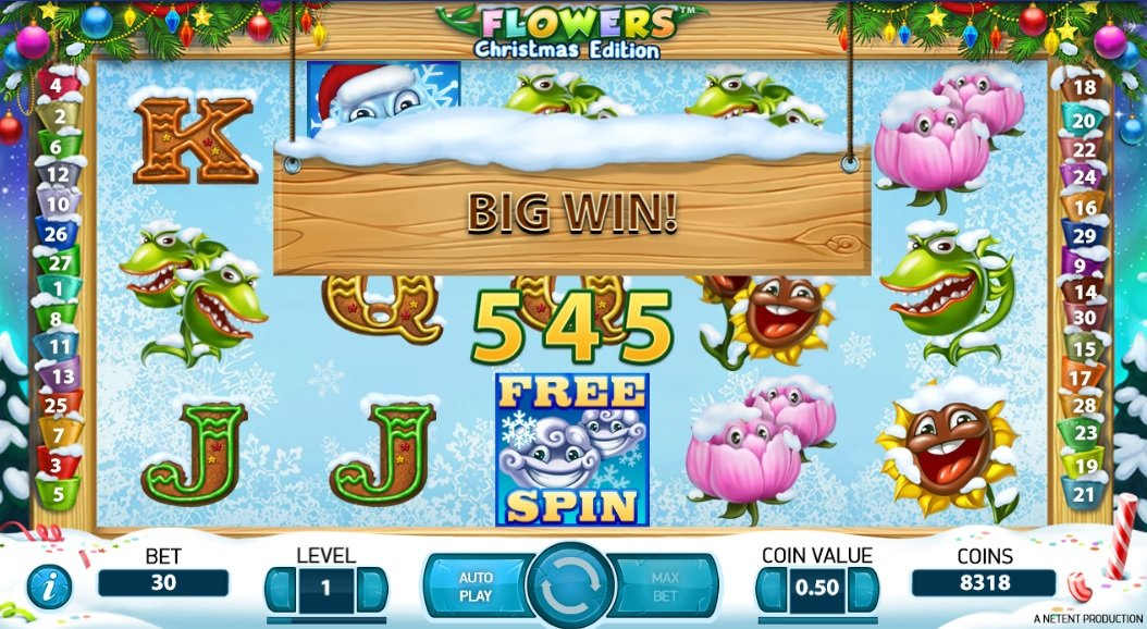 Φρουτάκι Flowers Christmas BIG WIN