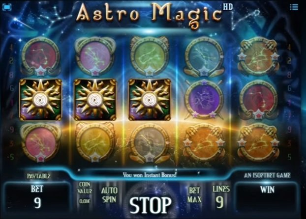 Φρουτάκι Astro Magic Instant bonus