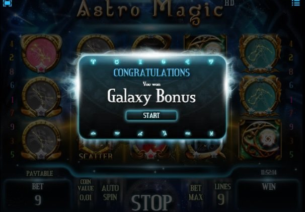 Φρουτάκι Astro Magic galaxy bonus
